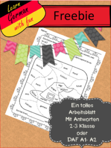 "FREE MISC. LESSON – ""German Worksheet Freebie 5 – Kostenloses ..."