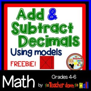 "FREE MATH LESSON – ""Decimals – Add and Subtract Decimals Worksheet w ..."