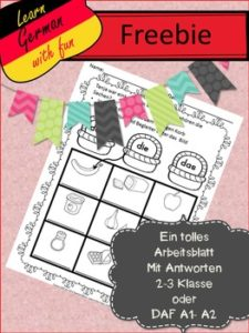 "FREE MISC. LESSON – ""German Worksheet Freebie 2 – Kostenloses ..."