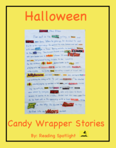 Candy Wrappers add fun wot creative writing project.